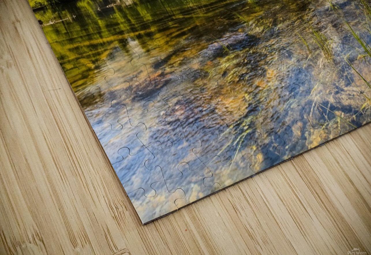 Taggart Lake and Grand Teton, Grand Teton National Park; Wyoming, United States of America HD Sublimation Metal print
