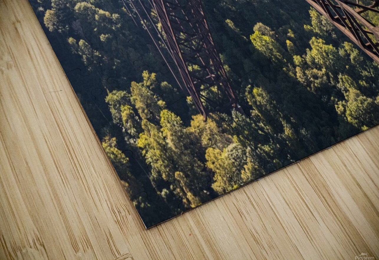 The New River Gorge Bridge is a steel arch bridge 3,030 feet long over the New River Gorge near Fayetteville, in the Appalachian Mountains of the Eastern United States; West Virginia, United States of America HD Sublimation Metal print