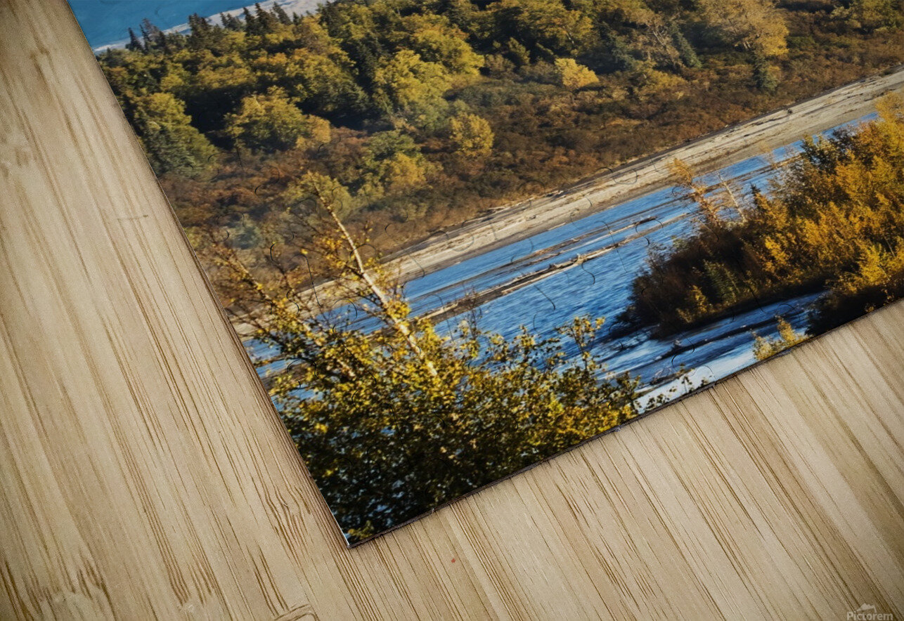 Denali, viewed from the Parks Highway, interior Alaska, near South Viewpoint rest stop; Alaska, United States of America HD Sublimation Metal print
