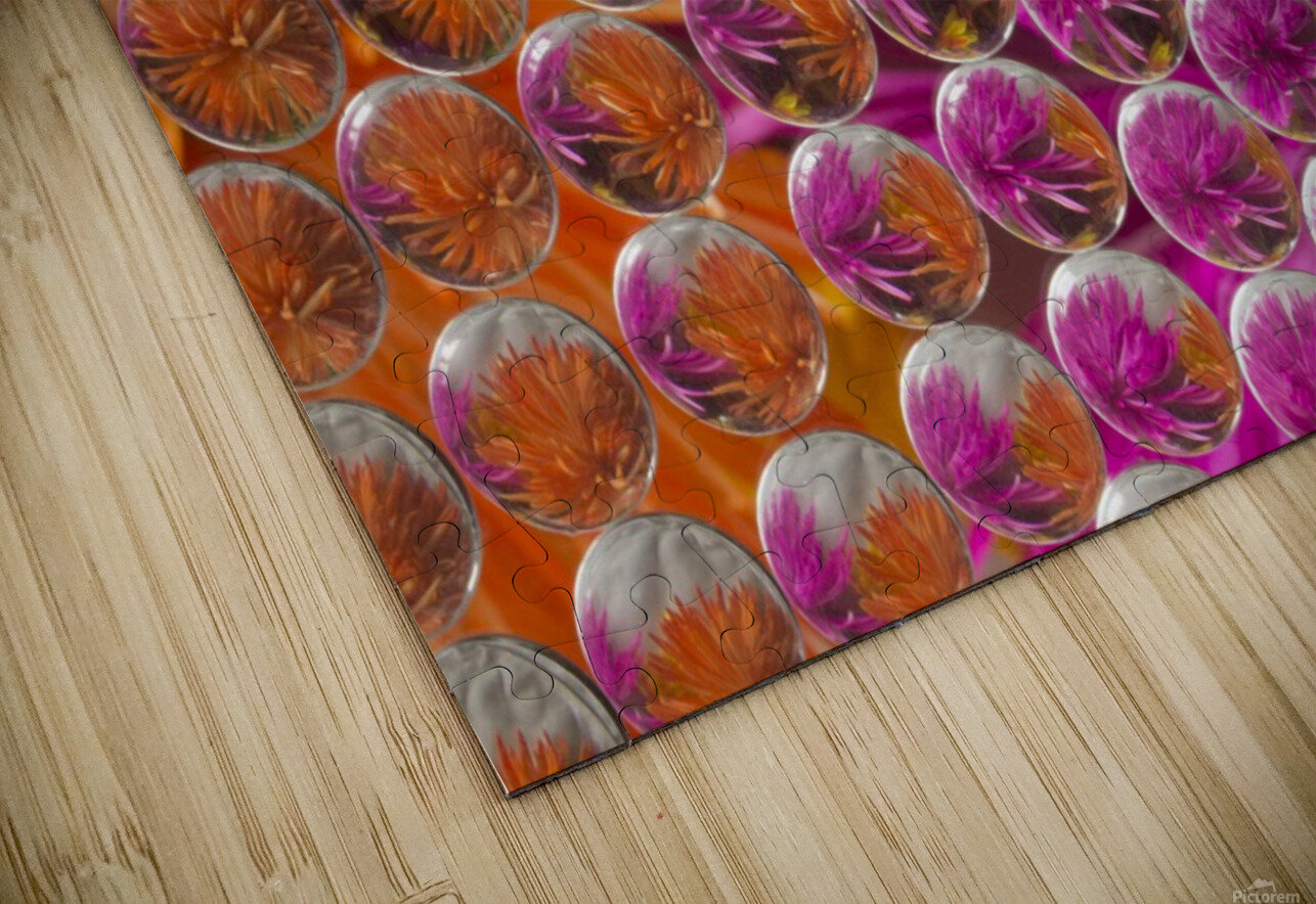 FLOWERS REFRACTION 5 HD Sublimation Metal print