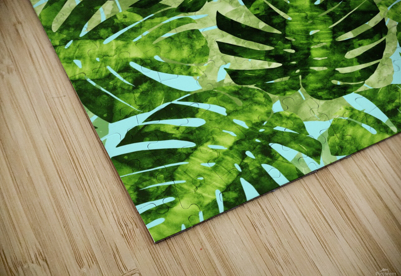 Watercolor leaves tropical I HD Sublimation Metal print