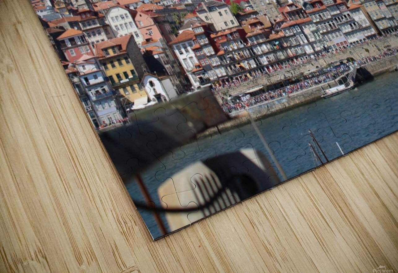 Oporto City at Douro River HD Sublimation Metal print