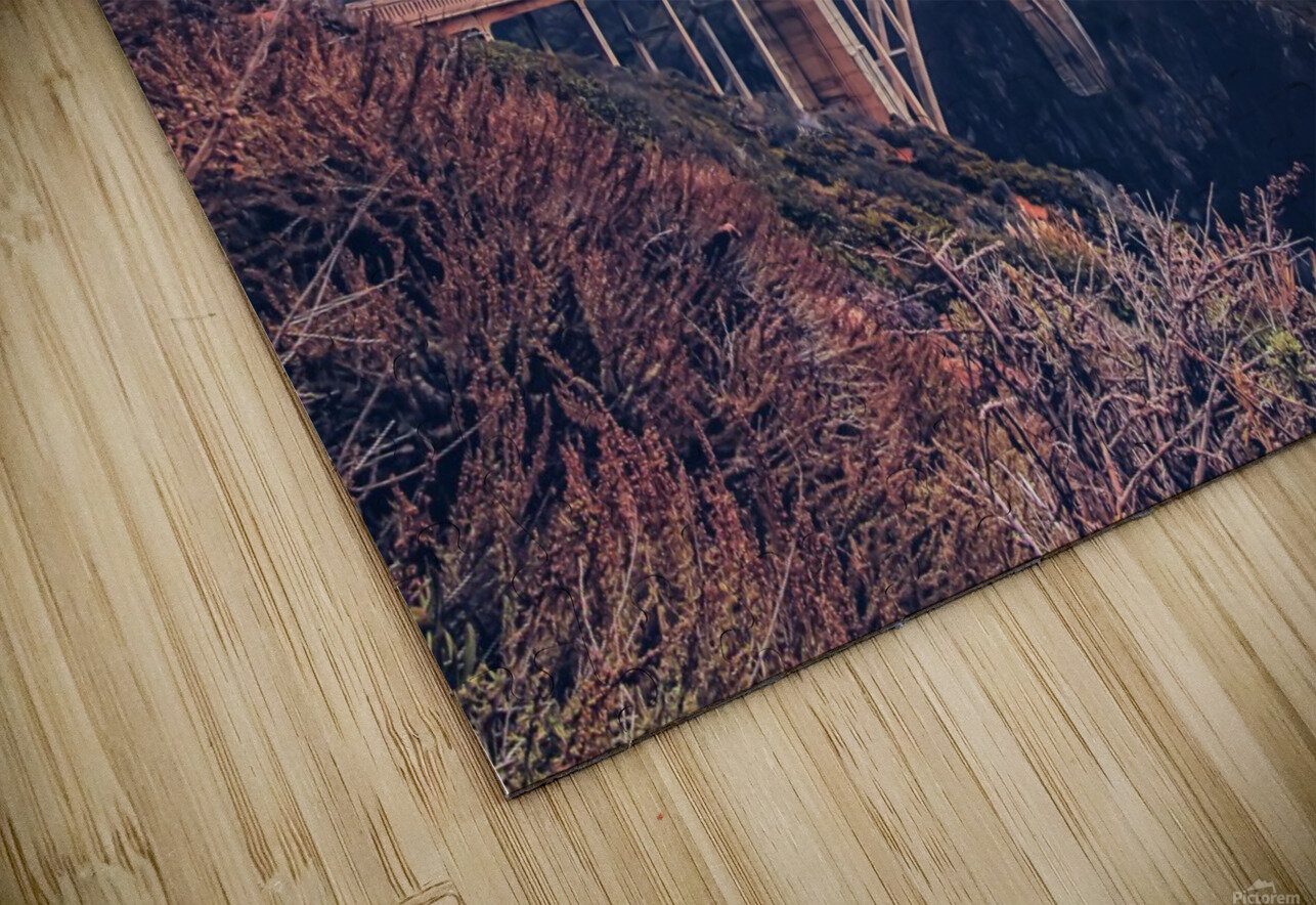 beautiful landscape at Bixby bridge, Big Sur, California, USA  HD Sublimation Metal print