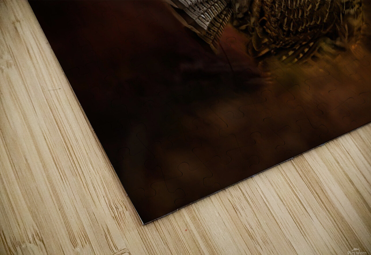 Ruffed Up HD Sublimation Metal print