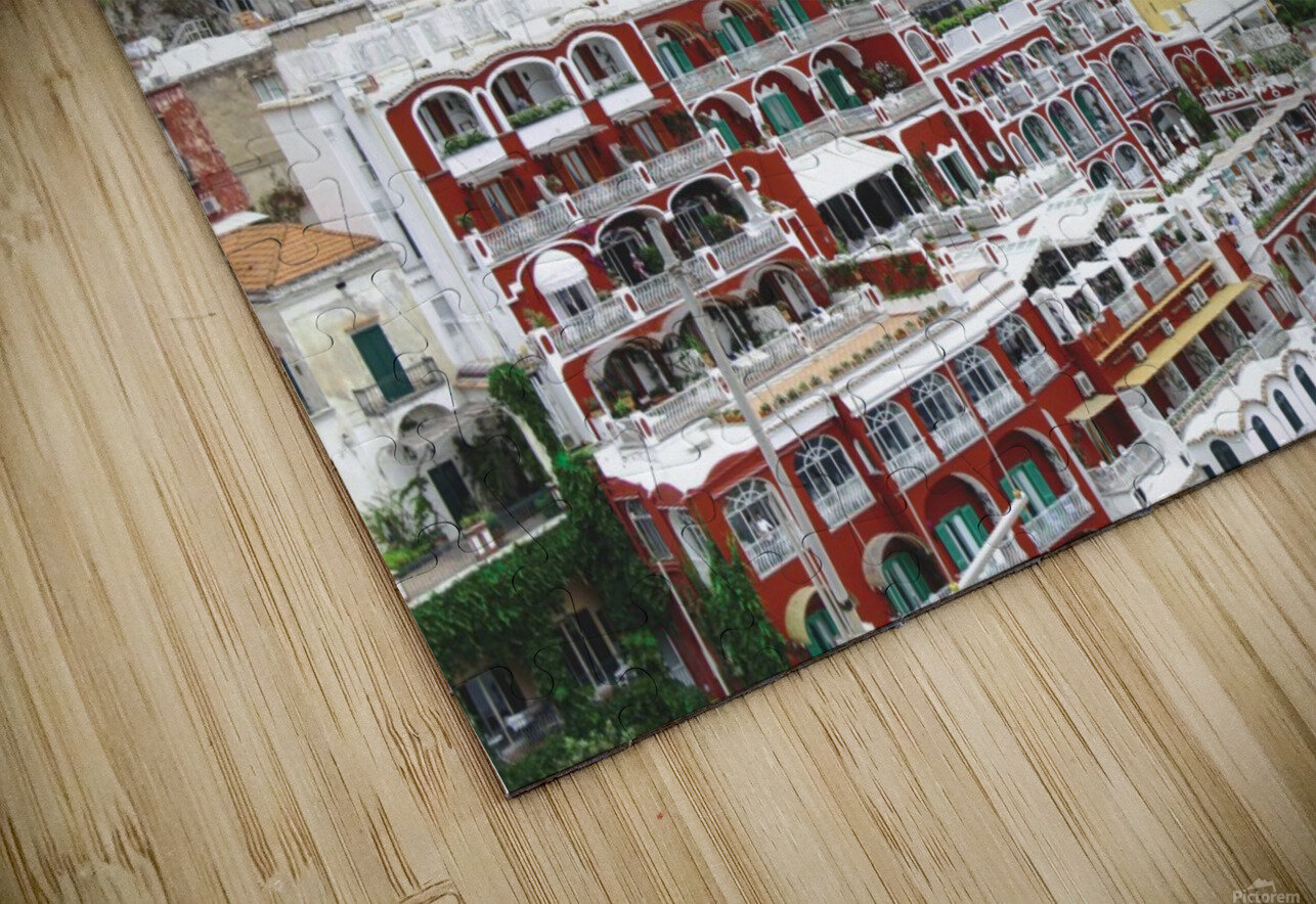 Houses at Amalfi Town - Italy HD Sublimation Metal print