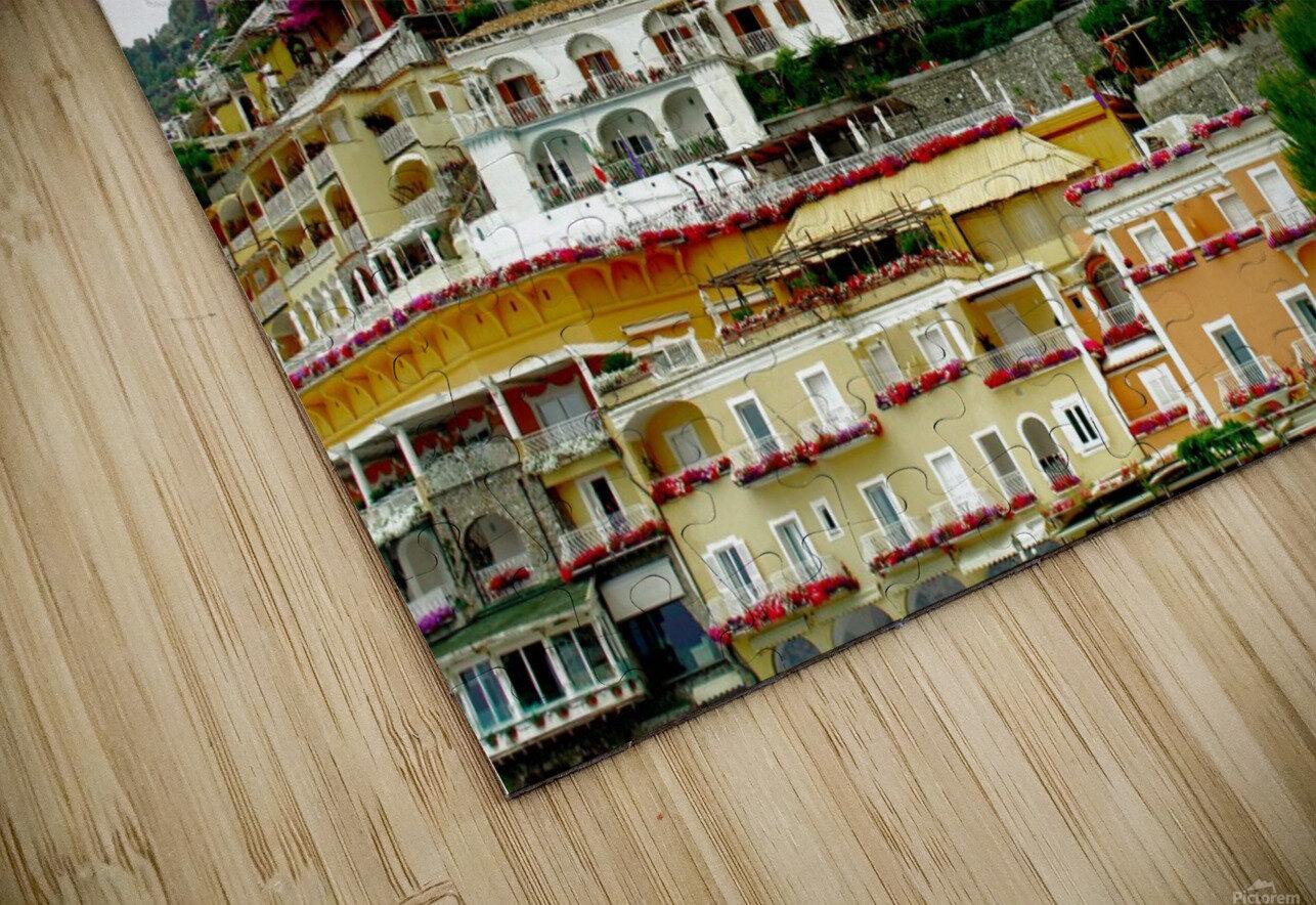 Positano Village in Amalfi Coast - Italy HD Sublimation Metal print