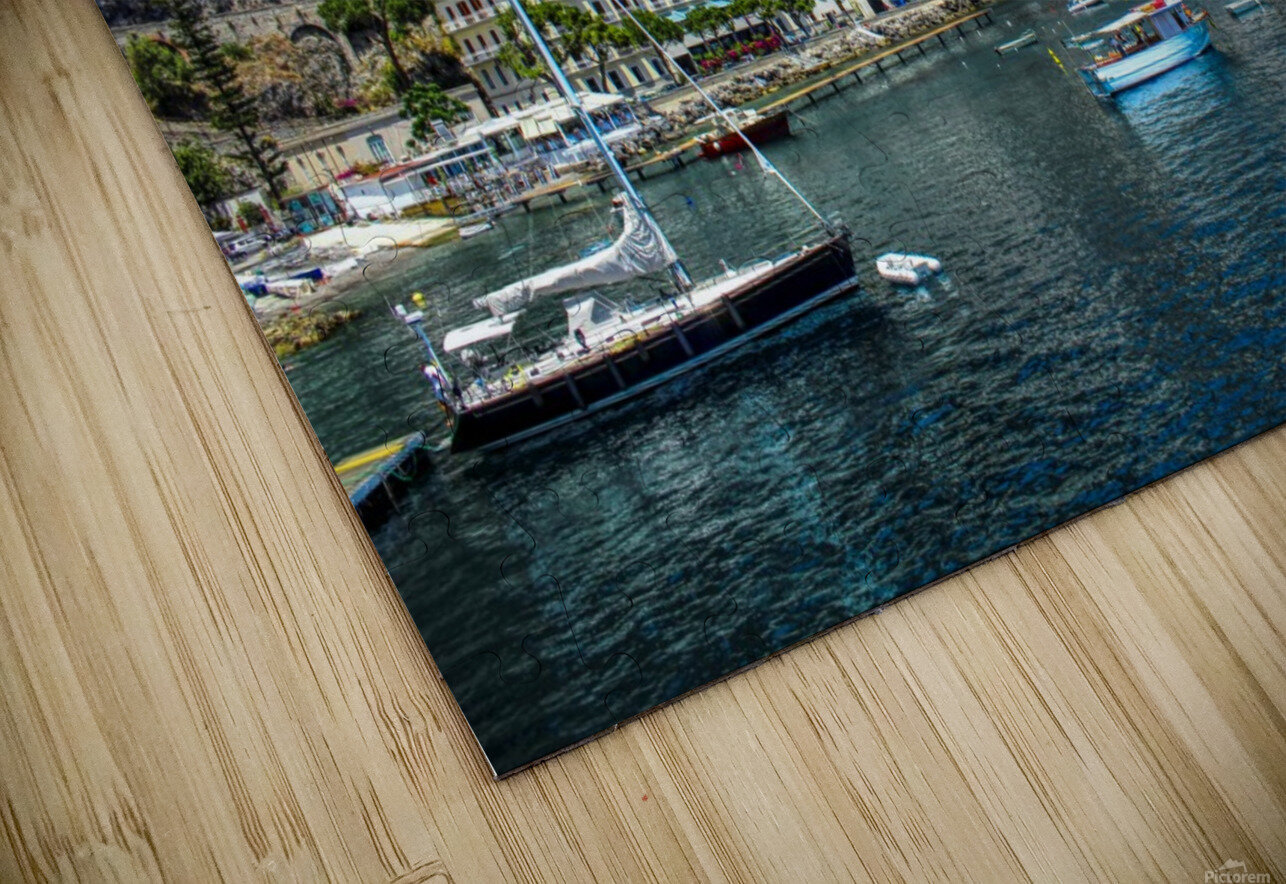 Amalfi Coast Panoramic View HD Sublimation Metal print