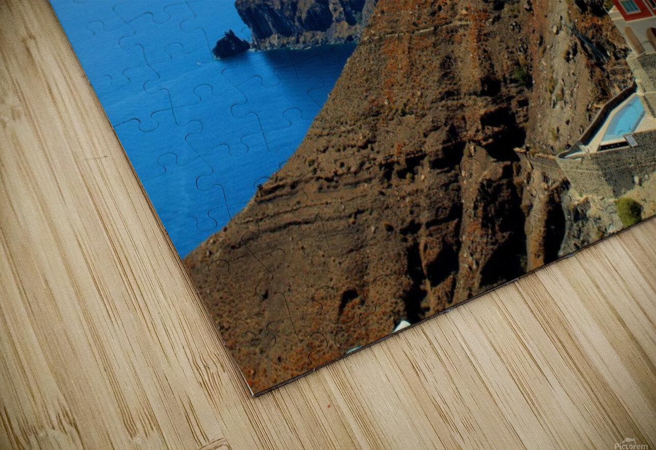Santorini Mountains Landscape - Greece HD Sublimation Metal print