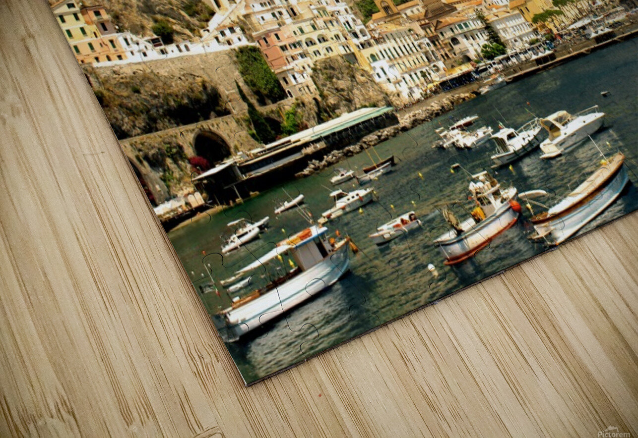 Amalfi Town - Panoramic View - Italy HD Sublimation Metal print