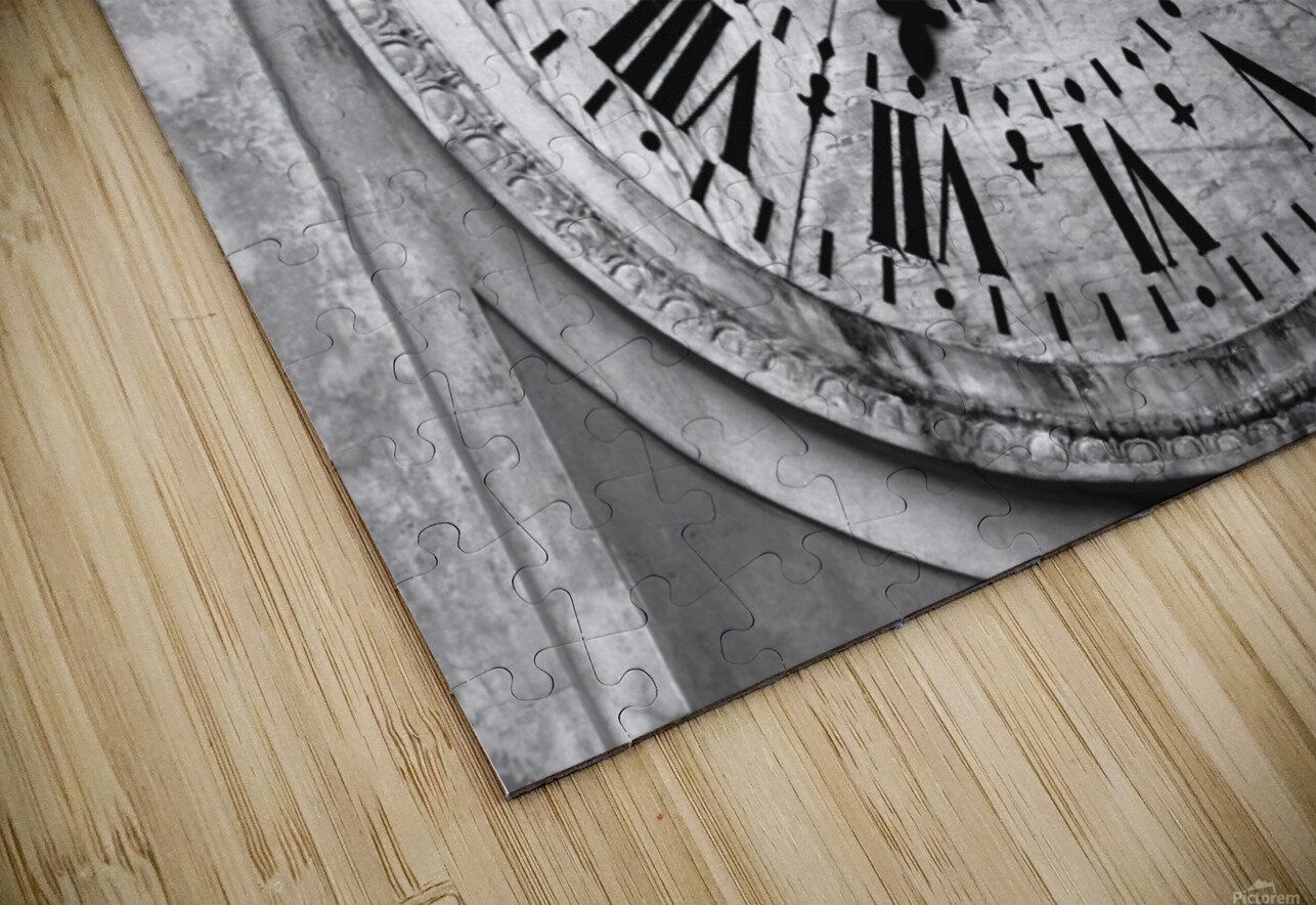 The Old Church Clock HD Sublimation Metal print