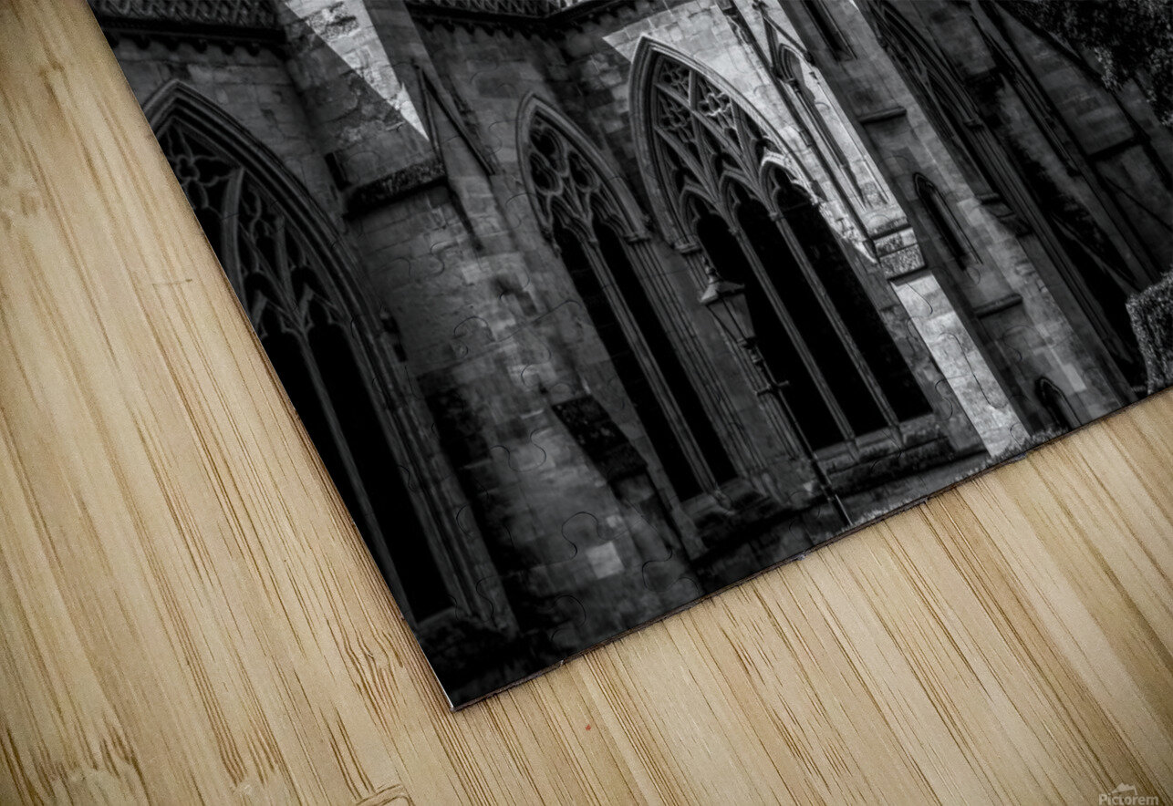 Cathedral   - Black and White image HD Sublimation Metal print