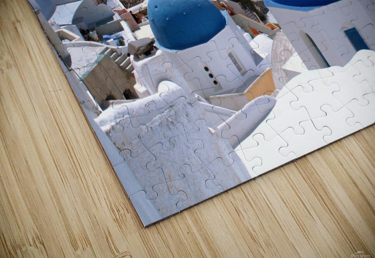 Amazing Santorini Landscape  HD Sublimation Metal print