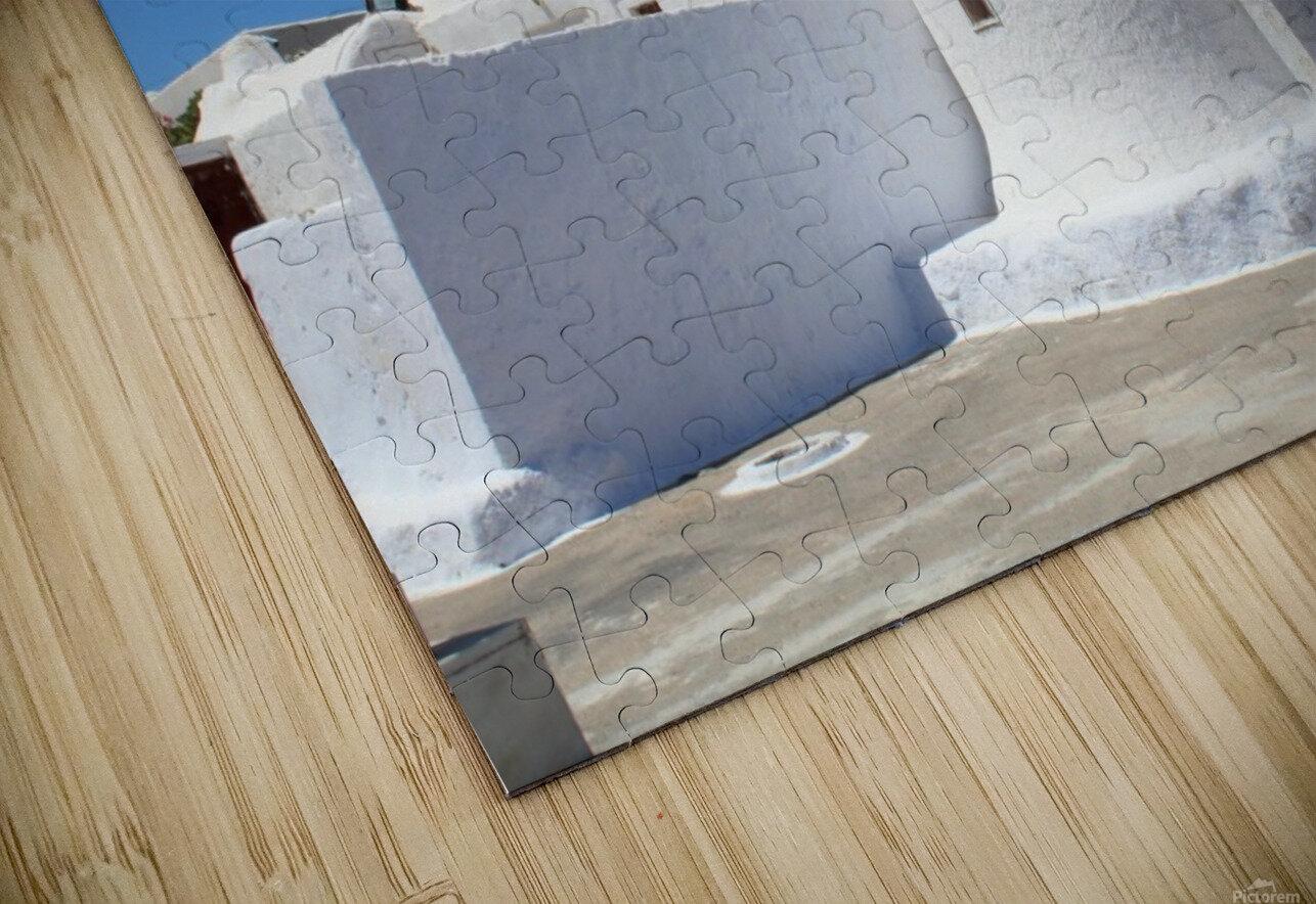 White Church -Santorini Island -  Greece HD Sublimation Metal print