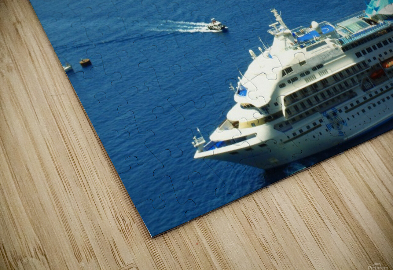 The Cruise Ship in the Blue Ocean HD Sublimation Metal print