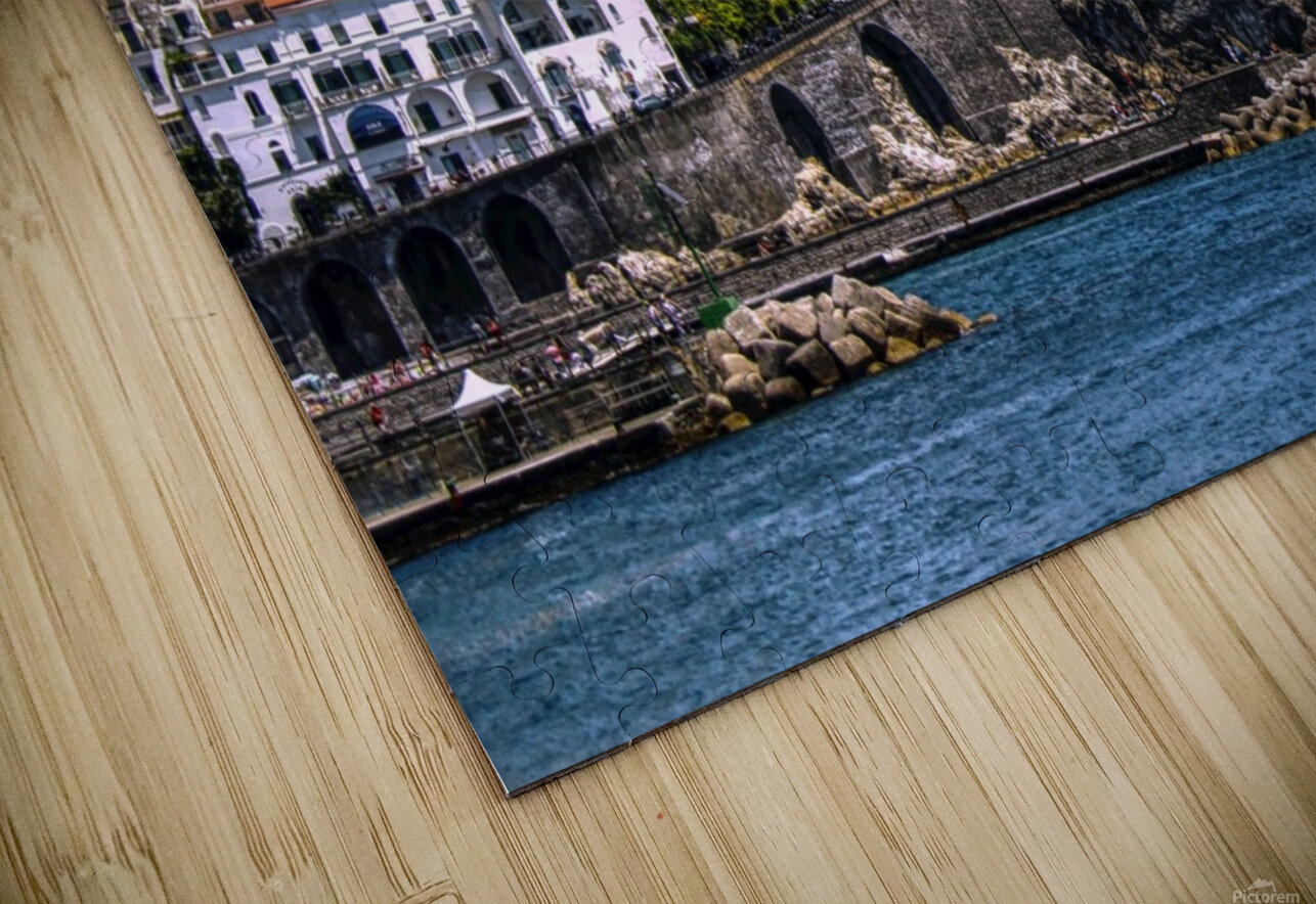 Artistic Amalfi Coast Landscape HD Sublimation Metal print