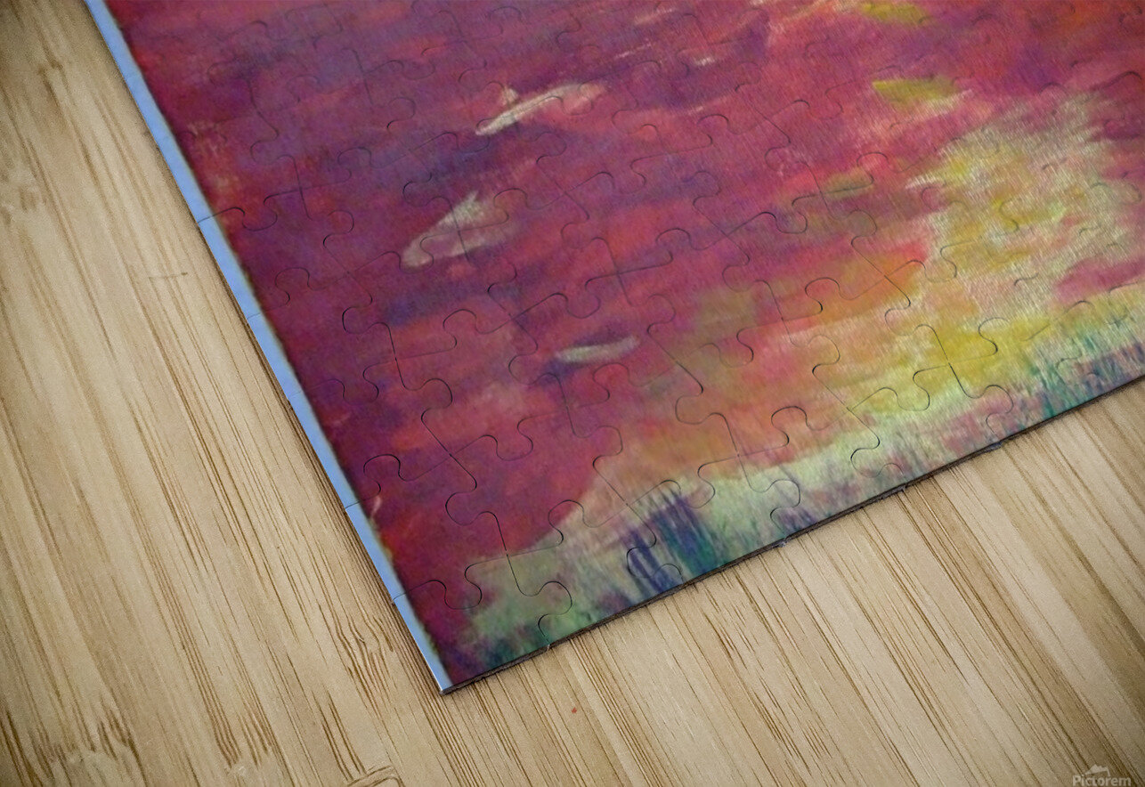 Red Abstract Sunset HD Sublimation Metal print