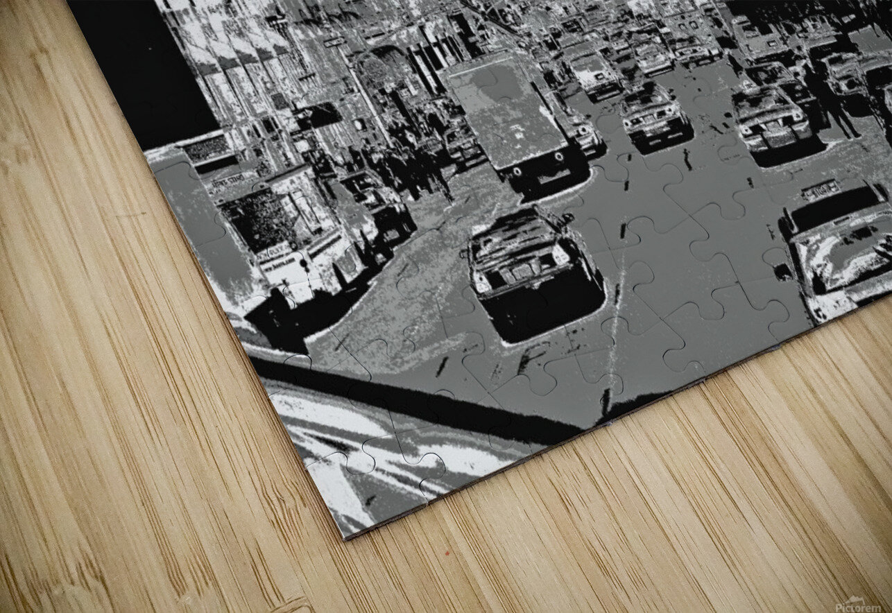 Madison Ave B&W HD Sublimation Metal print