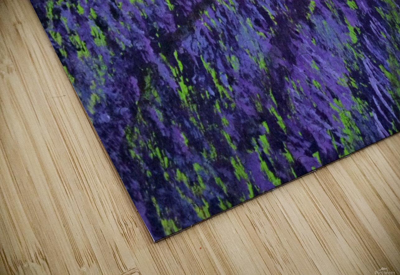 Purple Lavender fields painting HD Sublimation Metal print