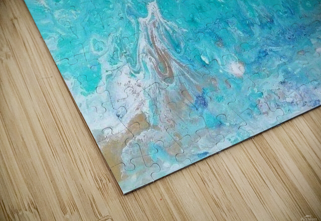 Wet an Abstract wave HD Sublimation Metal print