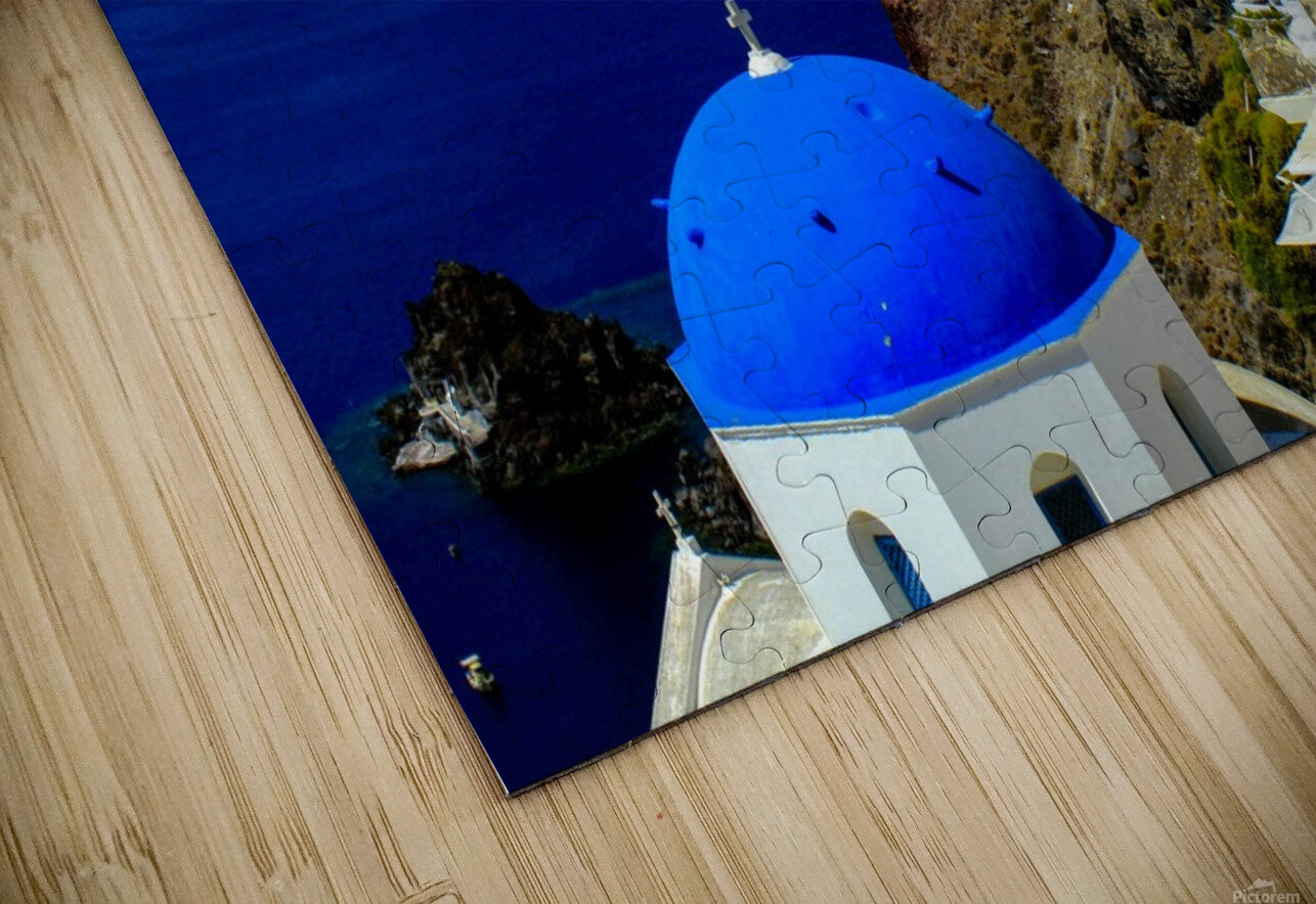 Santorini  - Super Colorful Landscape HD Sublimation Metal print