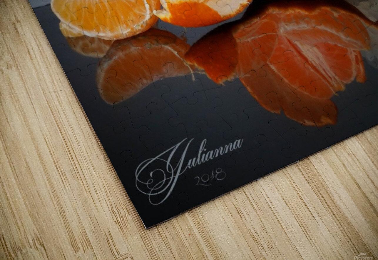 Orange sparkle  HD Sublimation Metal print