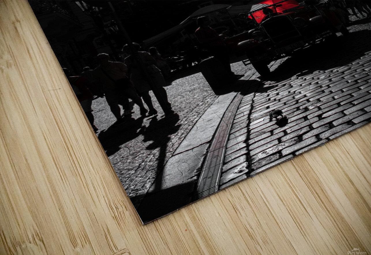 Le parapluie rouge HD Sublimation Metal print