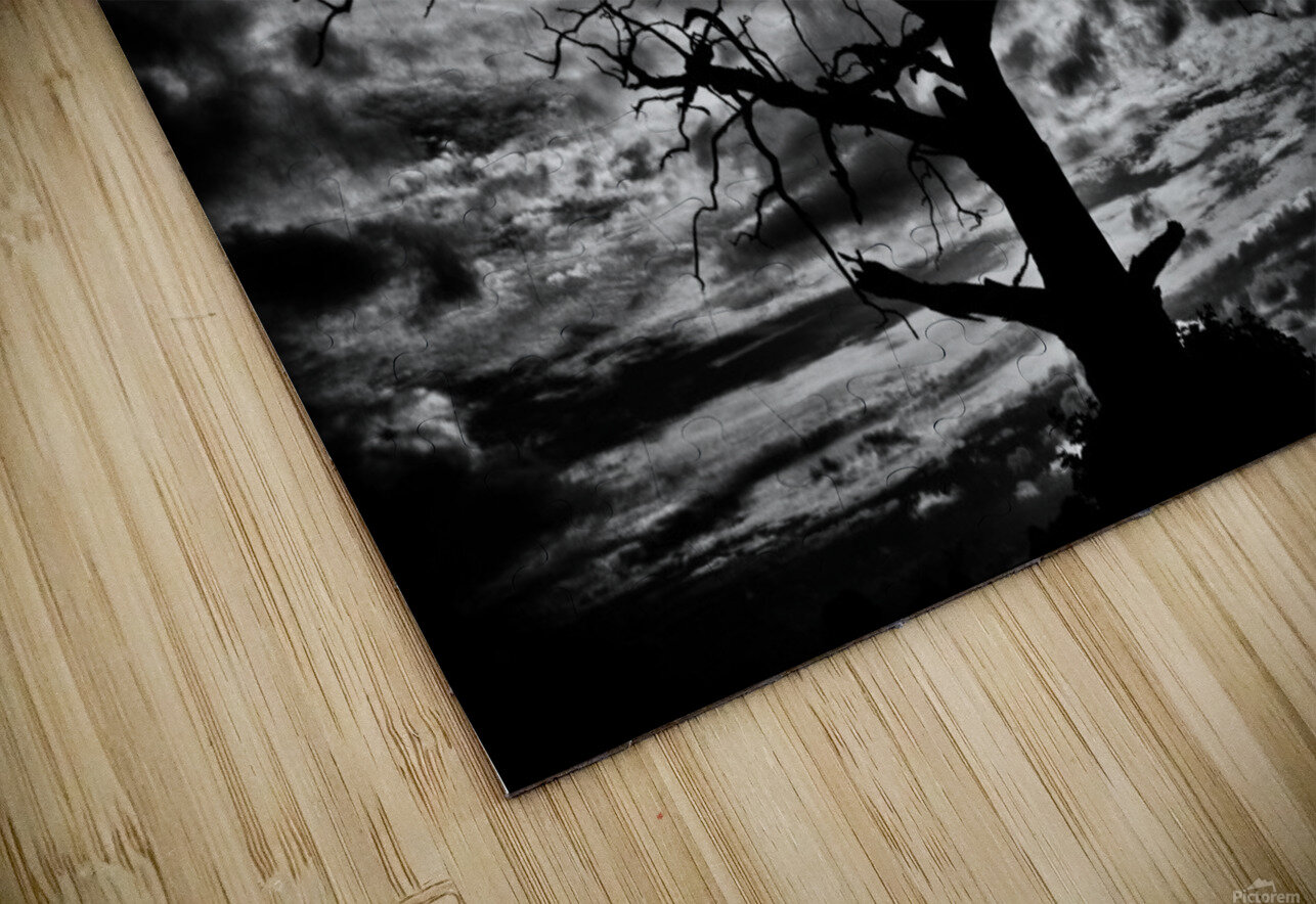Spooky tree HD Sublimation Metal print