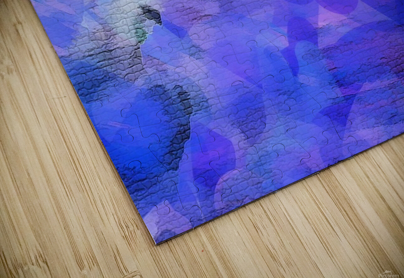 Textured Purple HD Sublimation Metal print