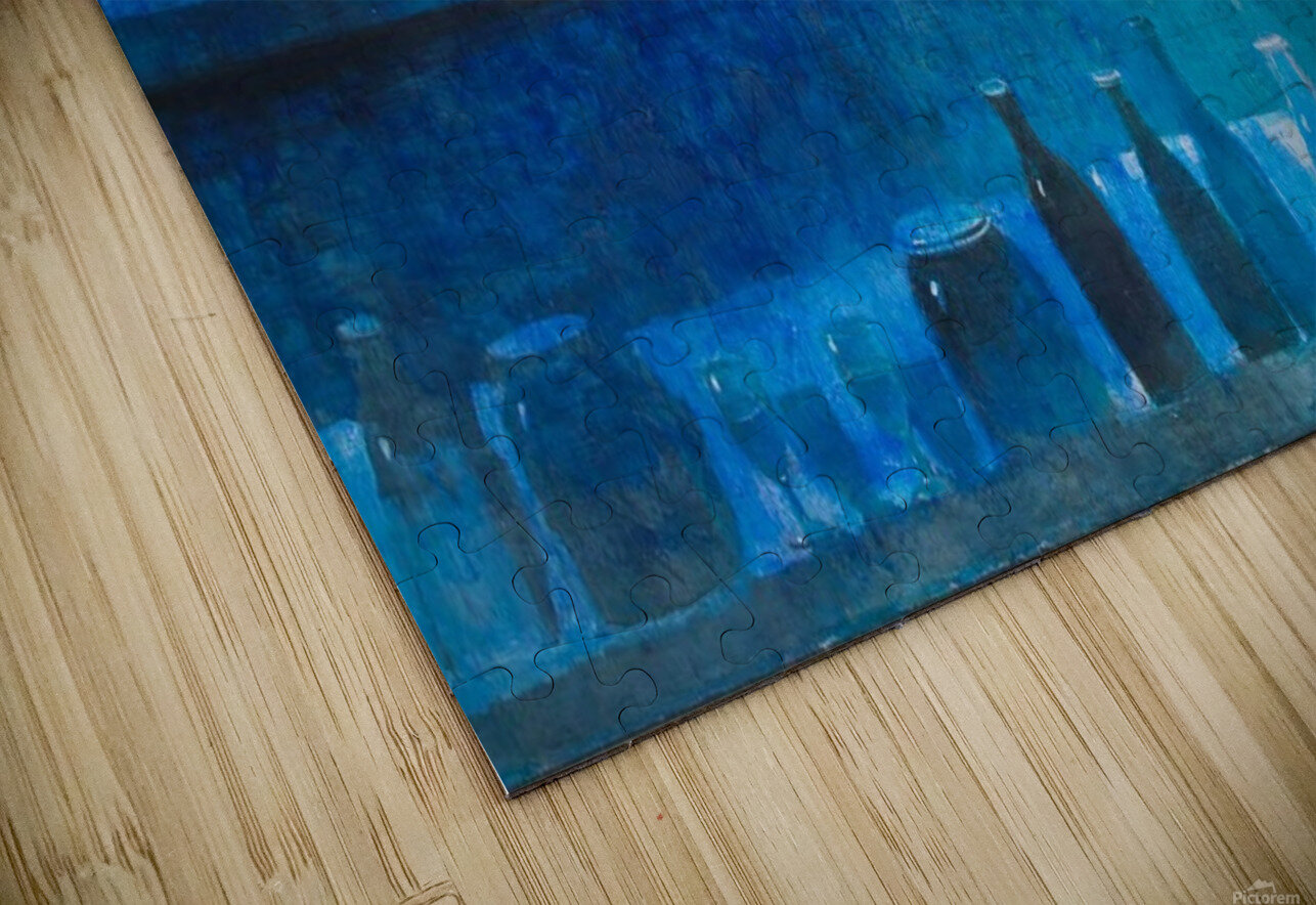 Still Life in Blue HD Sublimation Metal print
