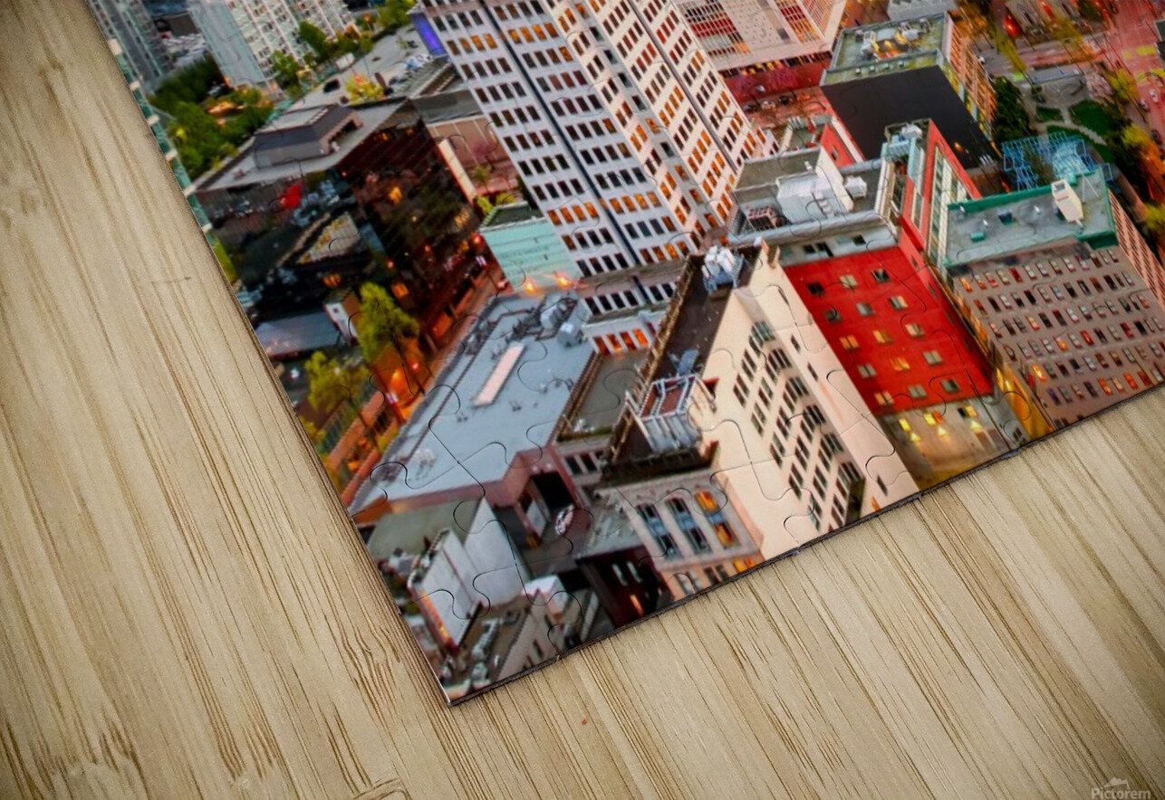 View from above the beautiful twilight in megalopolis HD Sublimation Metal print