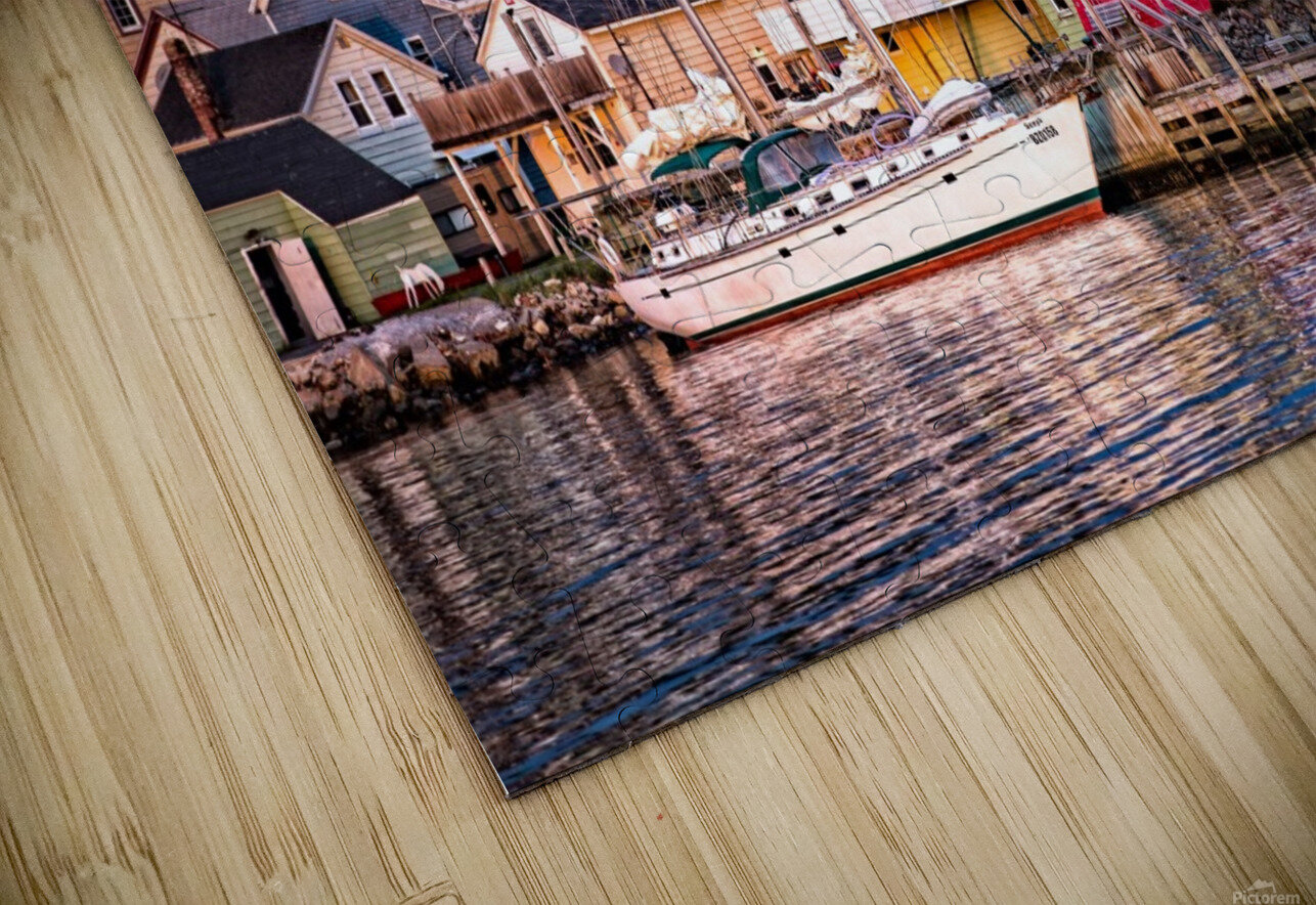 Cheticamp Waterfront HD Sublimation Metal print