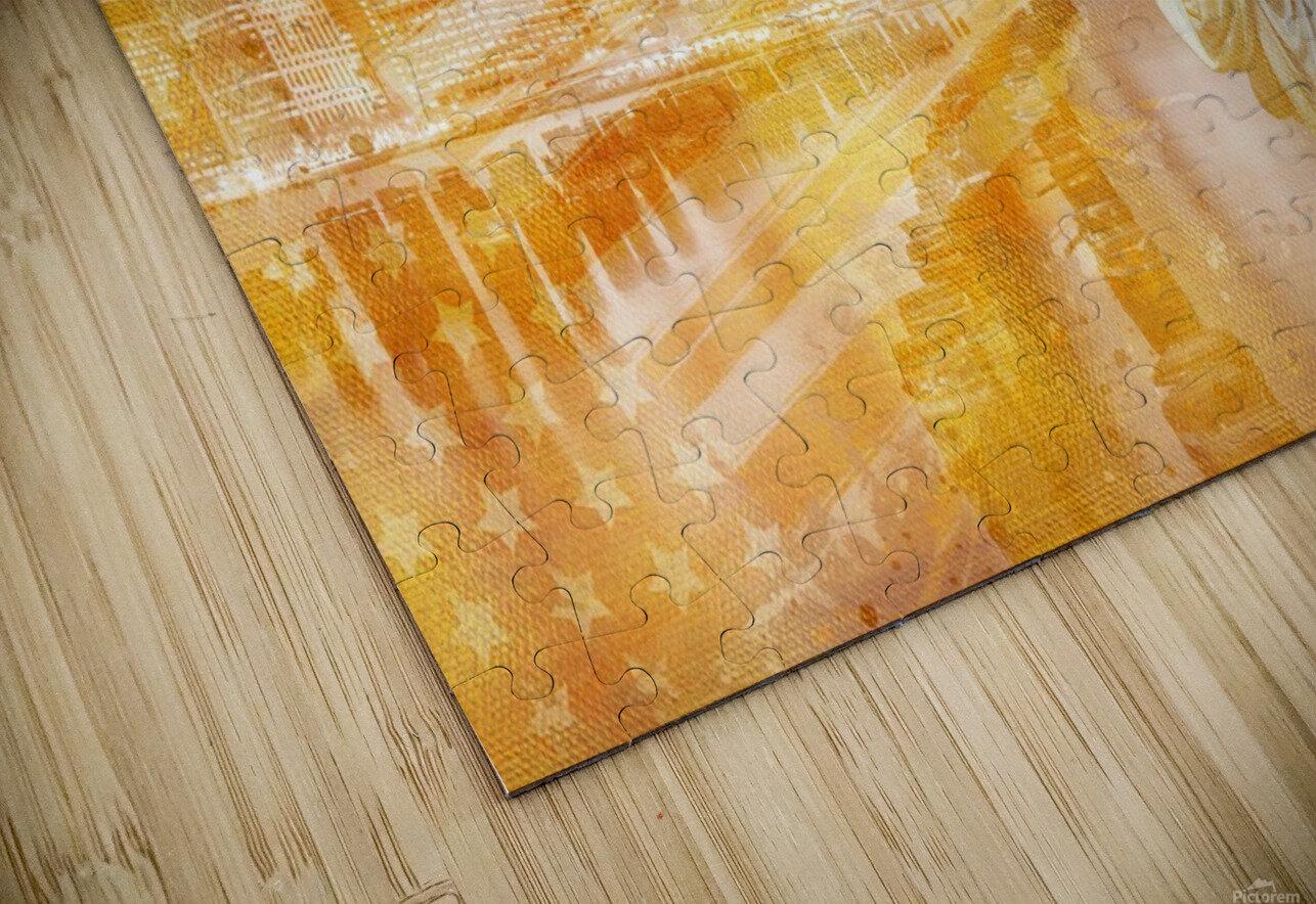 Graphic Art MANHATTAN Collage | golden Impression de sublimation métal HD