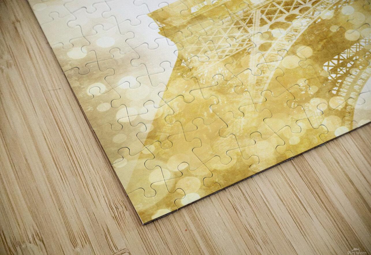 EIFFEL TOWER   golden illusion HD Sublimation Metal print