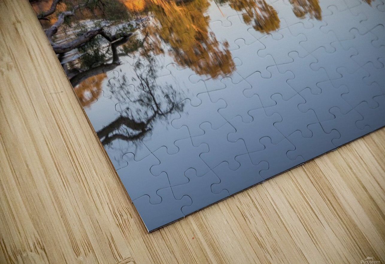 Reflections on the Murray River HD Sublimation Metal print