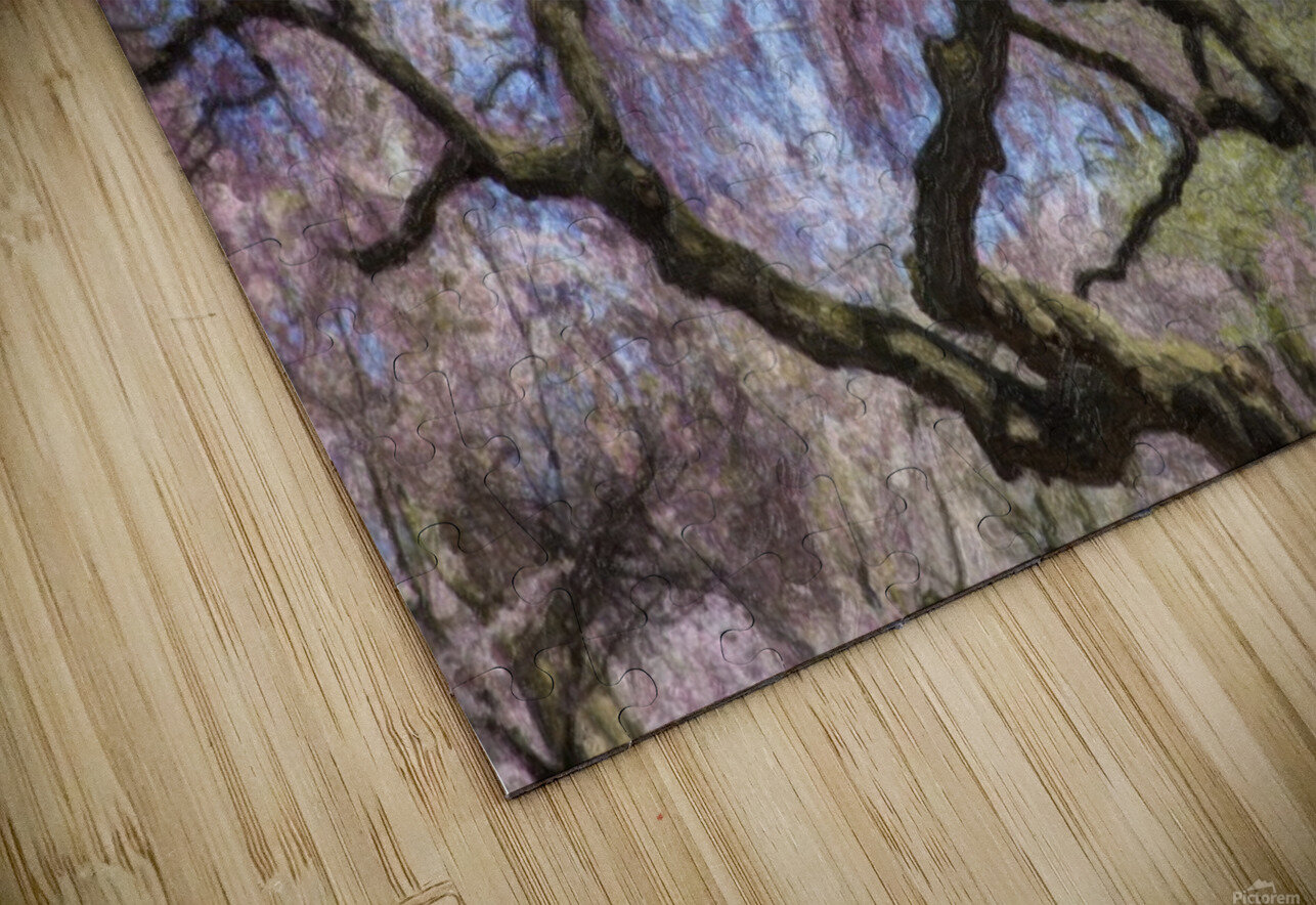Abstract Cherry Blossom tree HD Sublimation Metal print