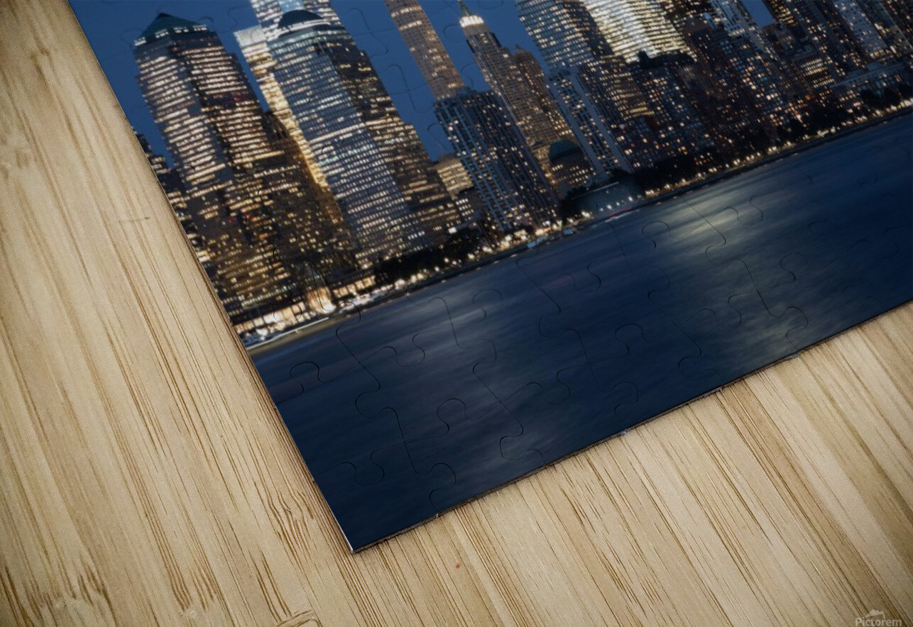 911 Memorial Lights NYC skyline HD Sublimation Metal print