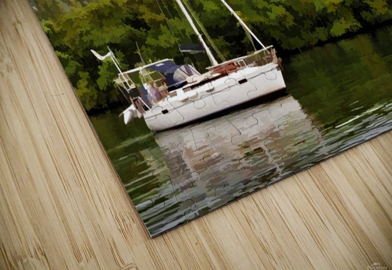On Quiet Waters HD Sublimation Metal print