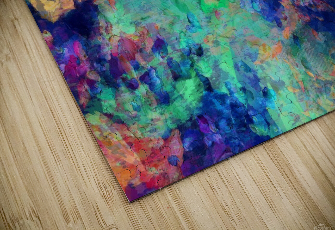 Abstract Colors HD Sublimation Metal print