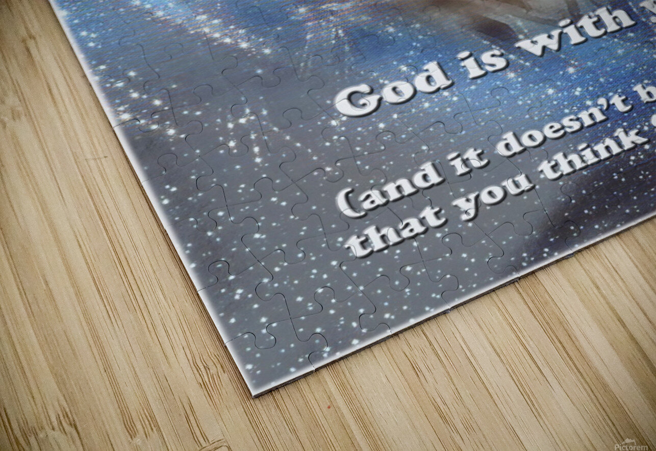 God Is With You2 HD Sublimation Metal print