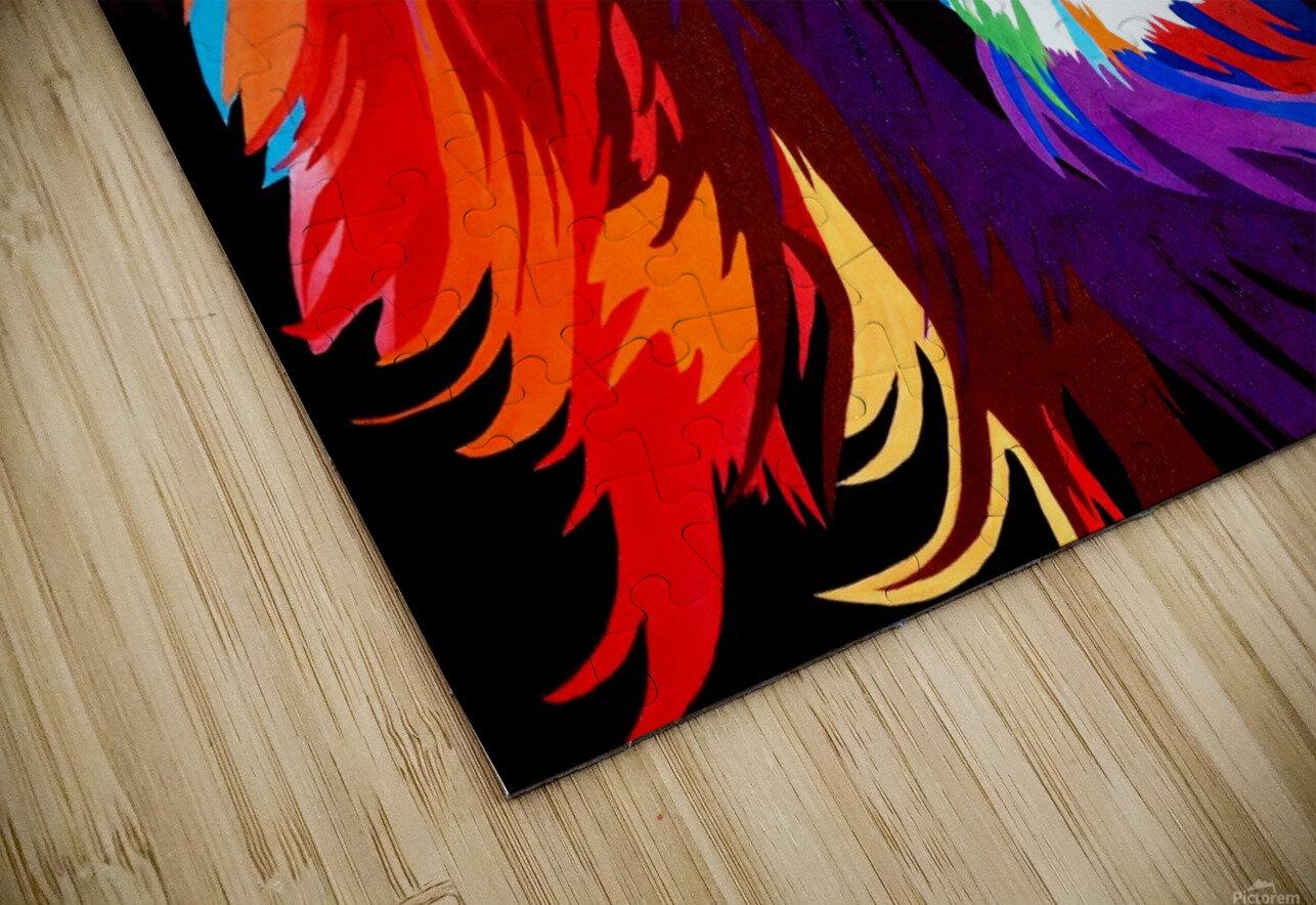 Lion Rainbow HD Sublimation Metal print