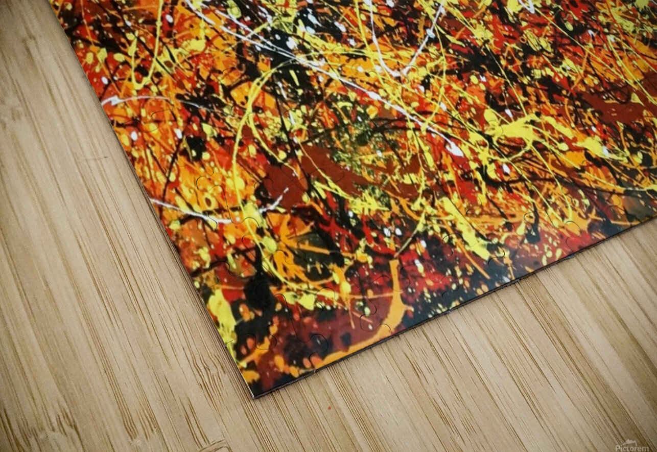 yellowy HD Sublimation Metal print