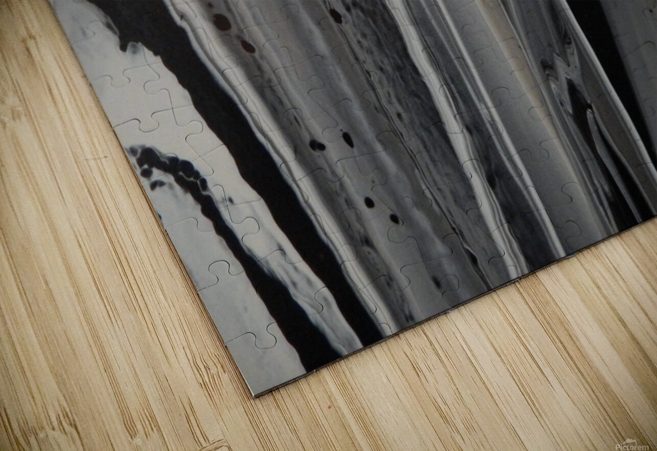 BLACK MARBLE HD Sublimation Metal print
