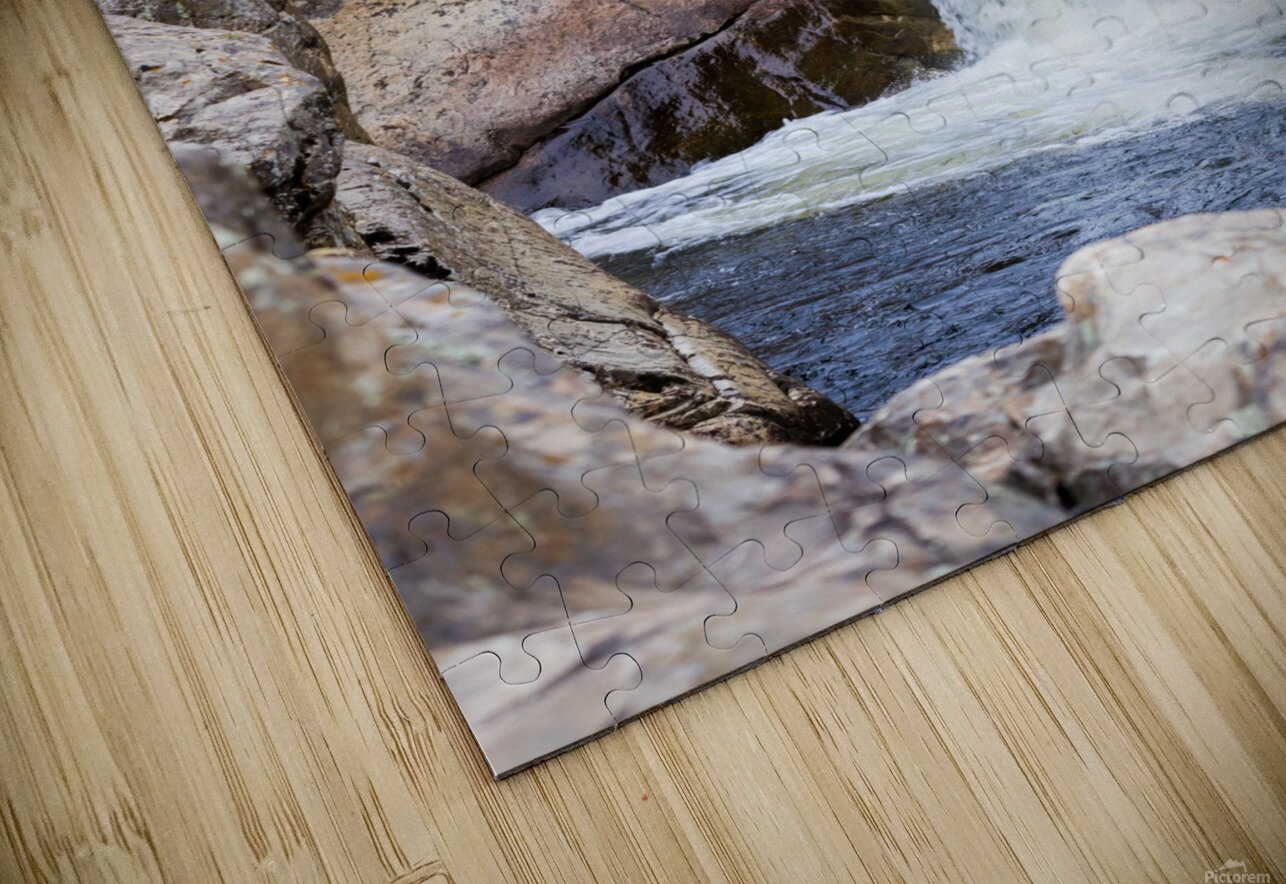 Colorado Waterfall  -  Poudre River  Impression de sublimation métal HD