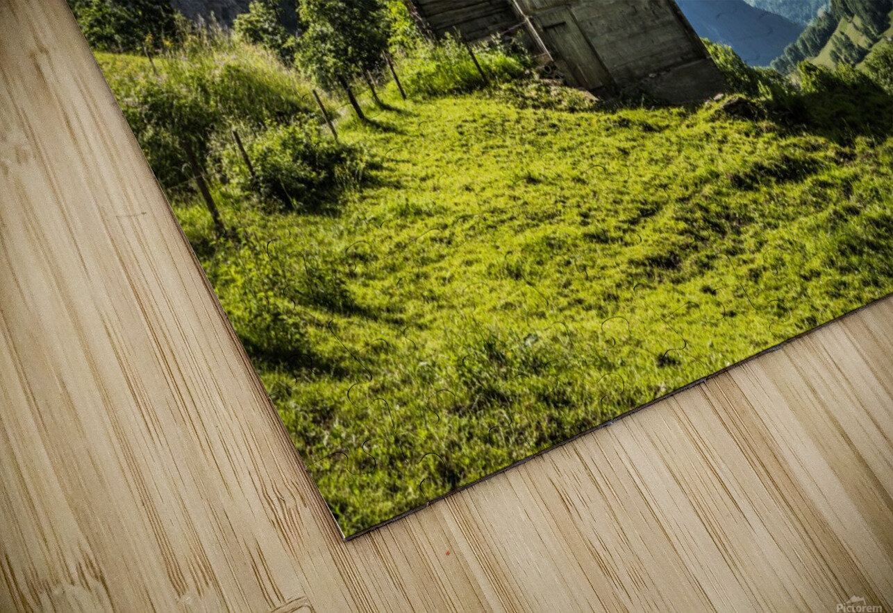 Hut in the valley HD Sublimation Metal print