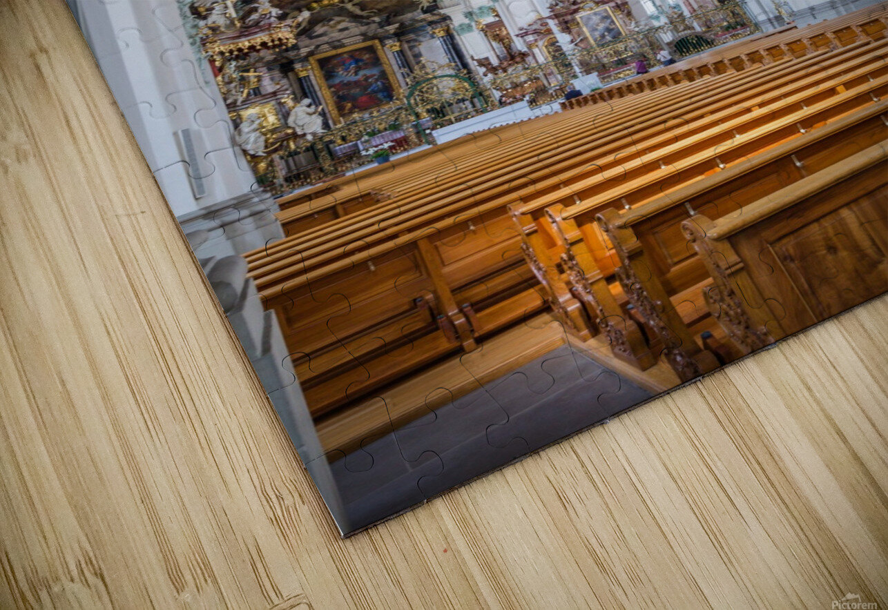 Church Pews HD Sublimation Metal print