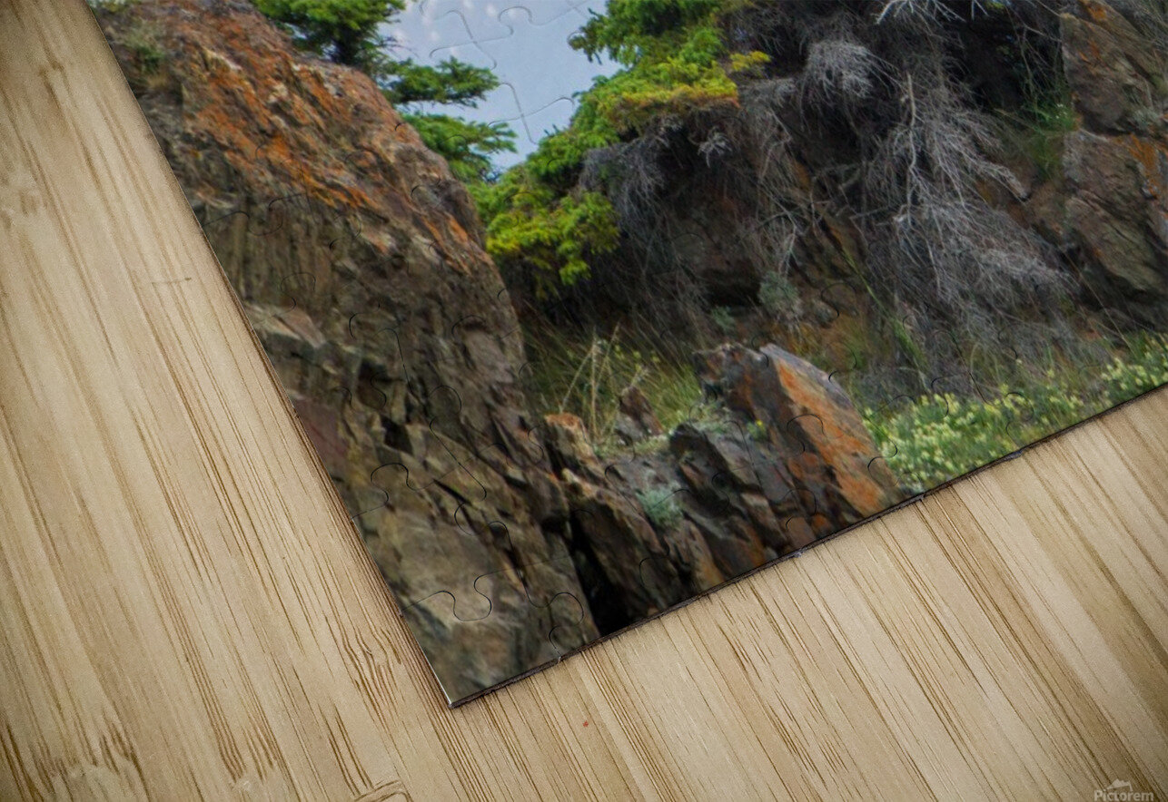 Alaska Scenery Pictures - Cliffs and Mountains HD Sublimation Metal print