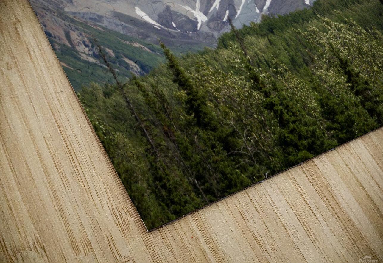 Alaska Mountain Range HD Sublimation Metal print