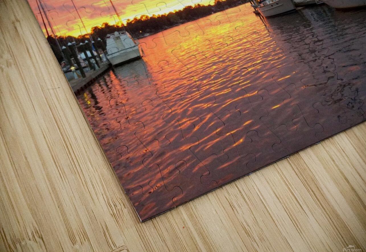 Sunset Sailboat 2 HD Sublimation Metal print