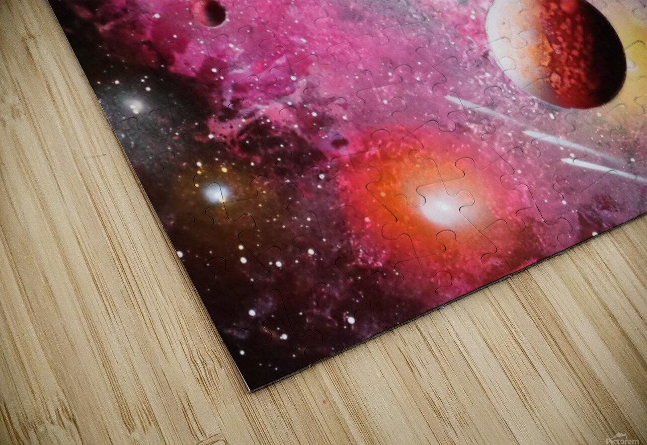 Fish galaxy HD Sublimation Metal print