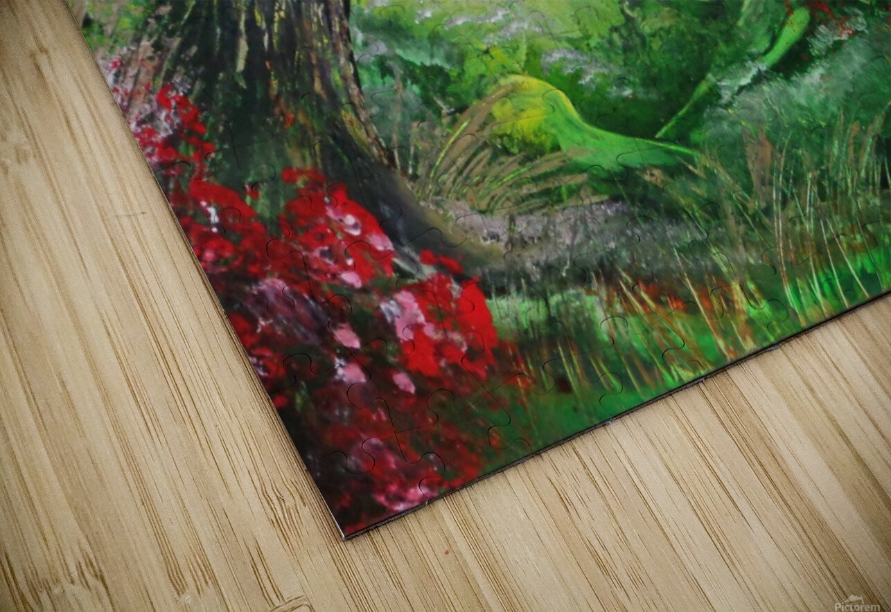 Green forest HD Sublimation Metal print